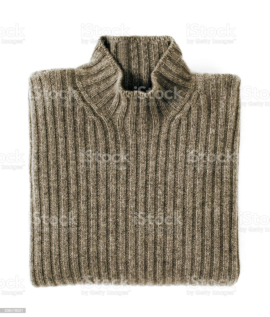Folded Cashmere Turtle Neck Sweater stock photo