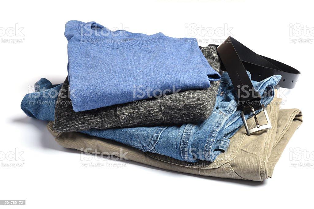 Folded clothing stock photo