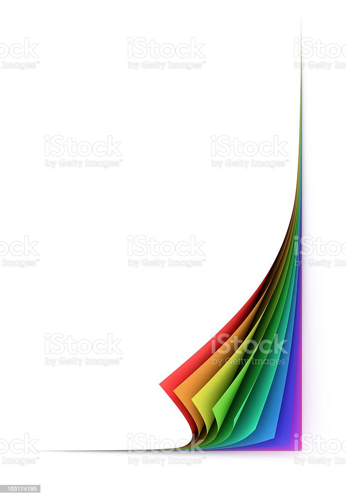 folded colorful paper sheets stock photo
