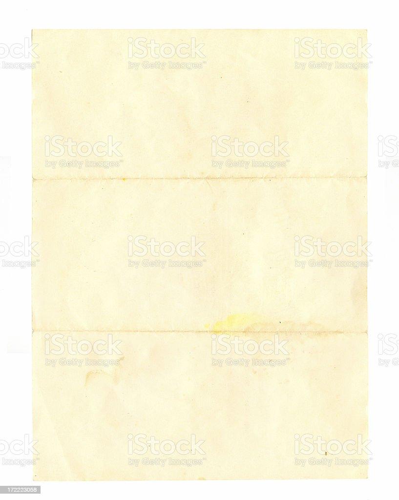 Folded Document stock photo