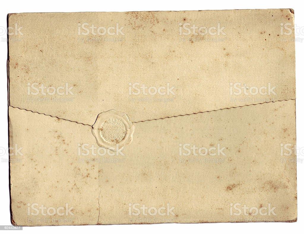 Folded Document royalty-free stock photo