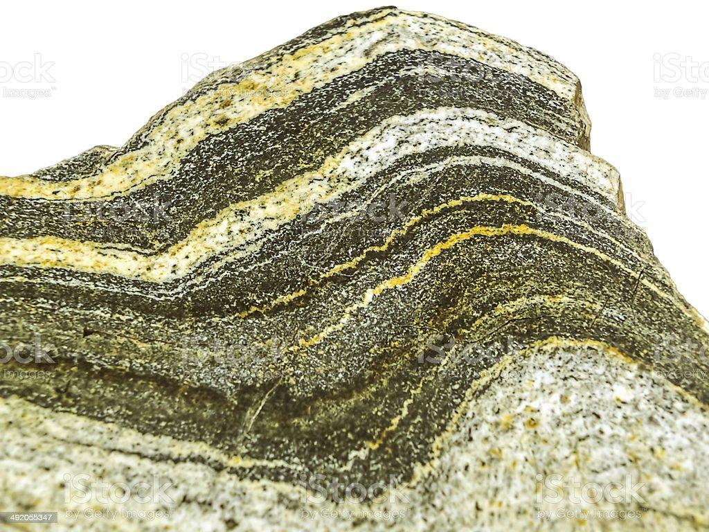 Folded Gneiss stock photo