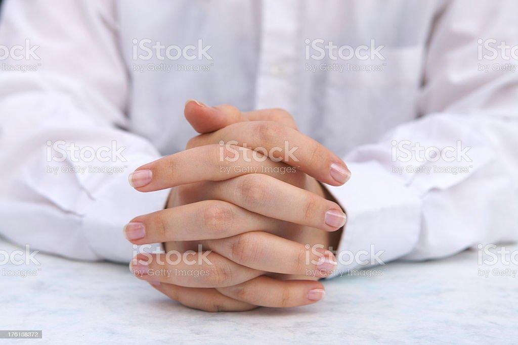 Folded Hands royalty-free stock photo