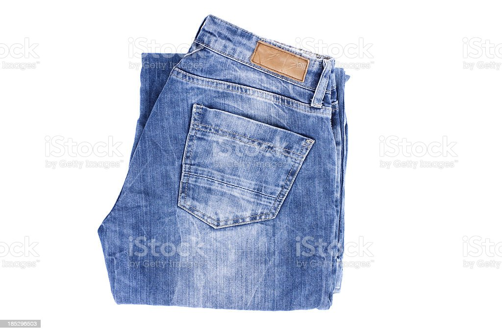 Folded jeans stock photo