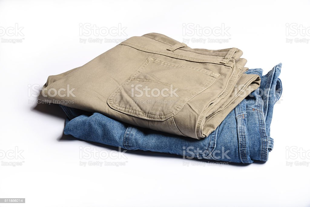 Folded Jeans stock photo