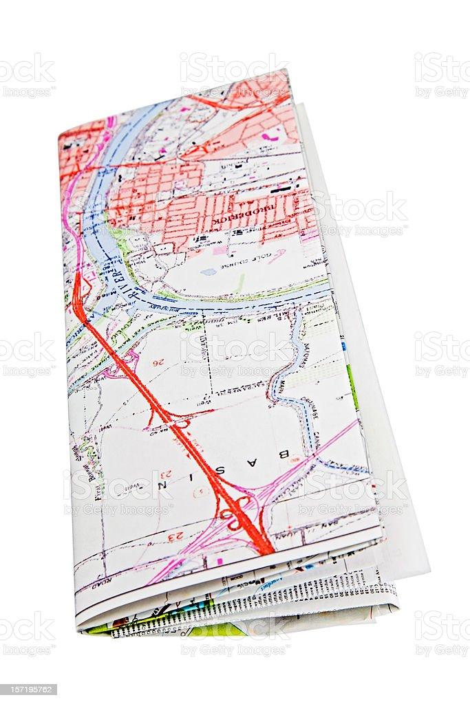Folded Map royalty-free stock photo