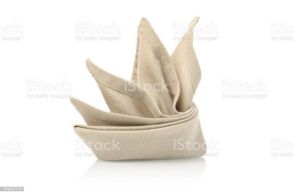 folded napkin stock photo