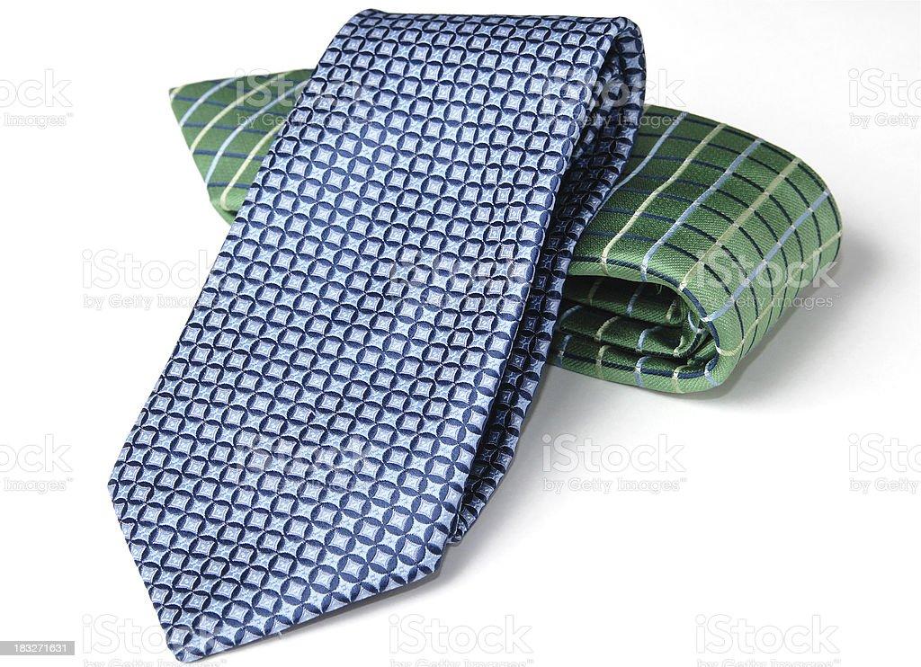Folded Neckties on White stock photo