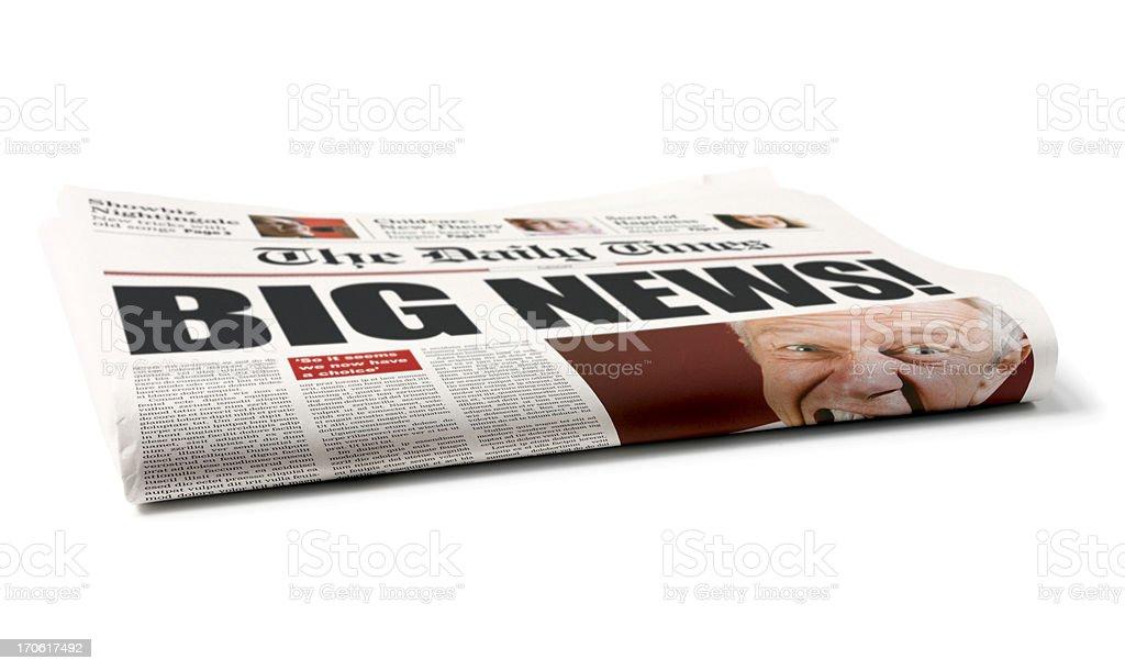 Folded newspaper royalty-free stock photo