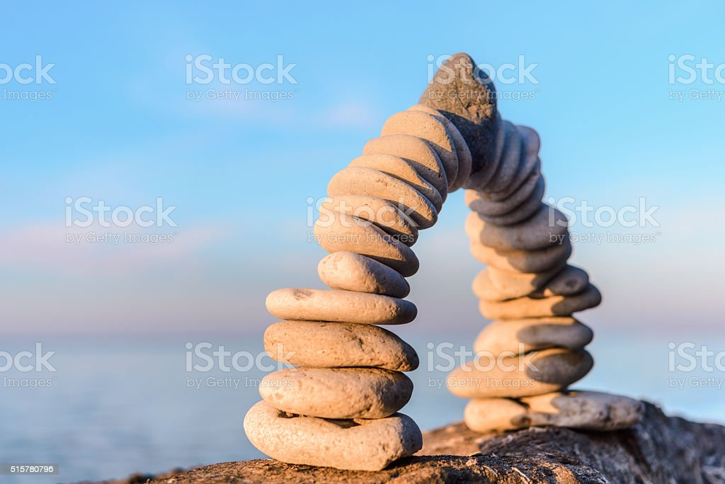 Folded of pebbles stock photo