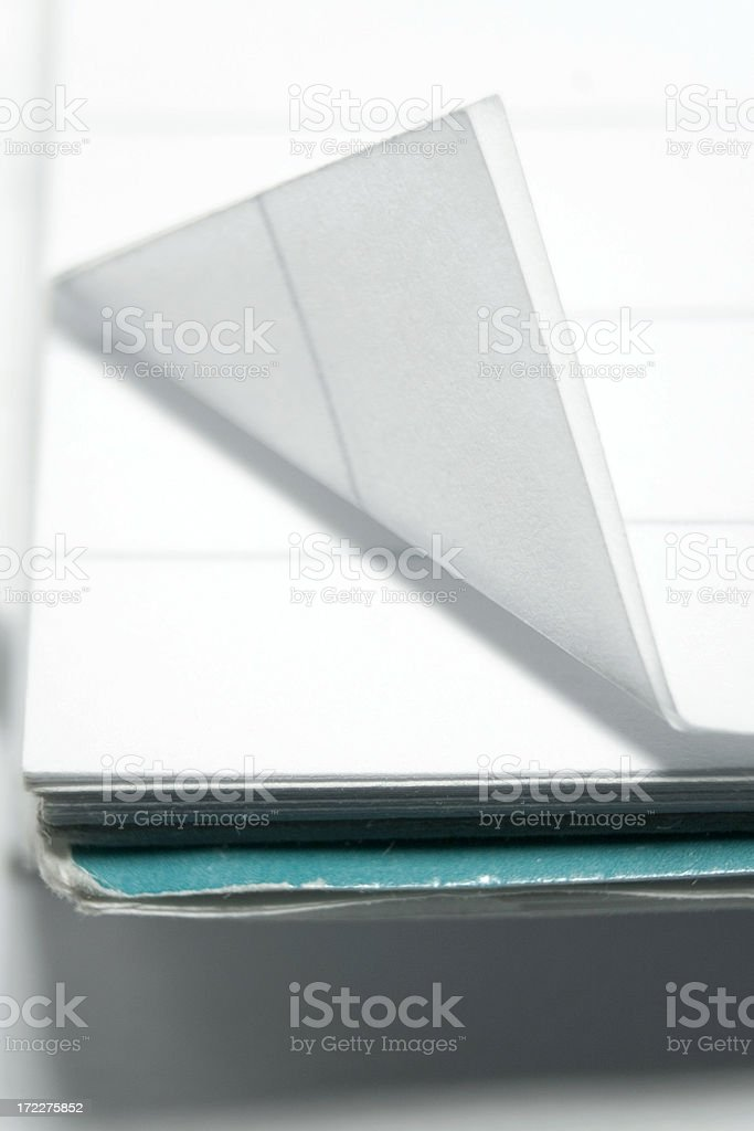 folded page of an old notepad royalty-free stock photo