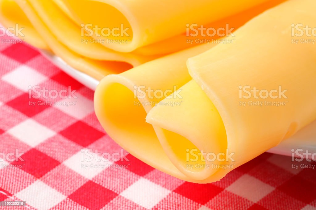 folded slices of cheese royalty-free stock photo