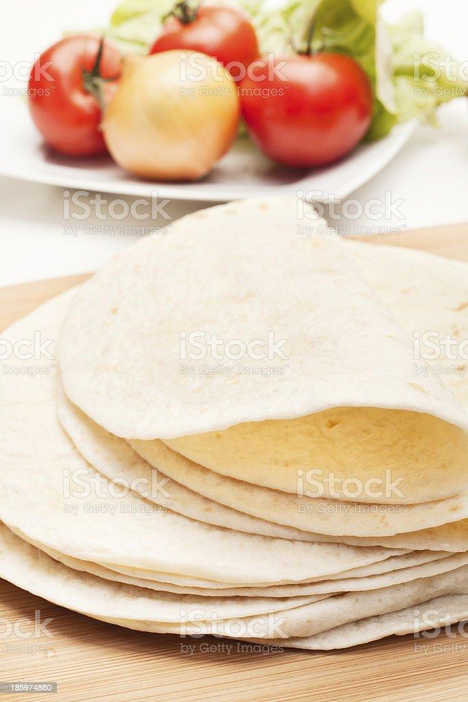 Folded tortillas stock photo