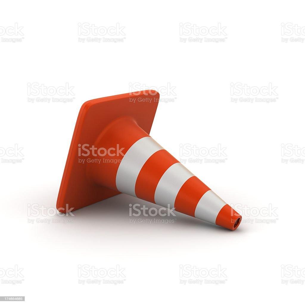 Folded Traffic Cone royalty-free stock photo