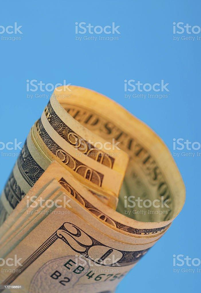 Folded Twenty Dollars royalty-free stock photo