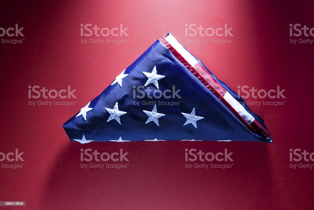 Folded US Flag stock photo