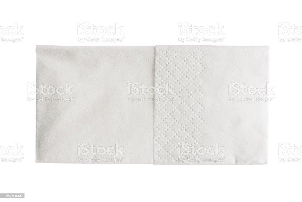 Folded white paper handkerchief isolated stock photo