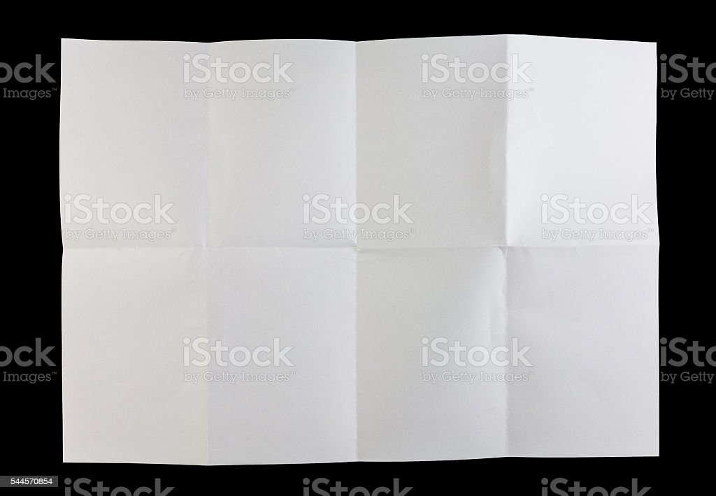 Folded white paper stock photo