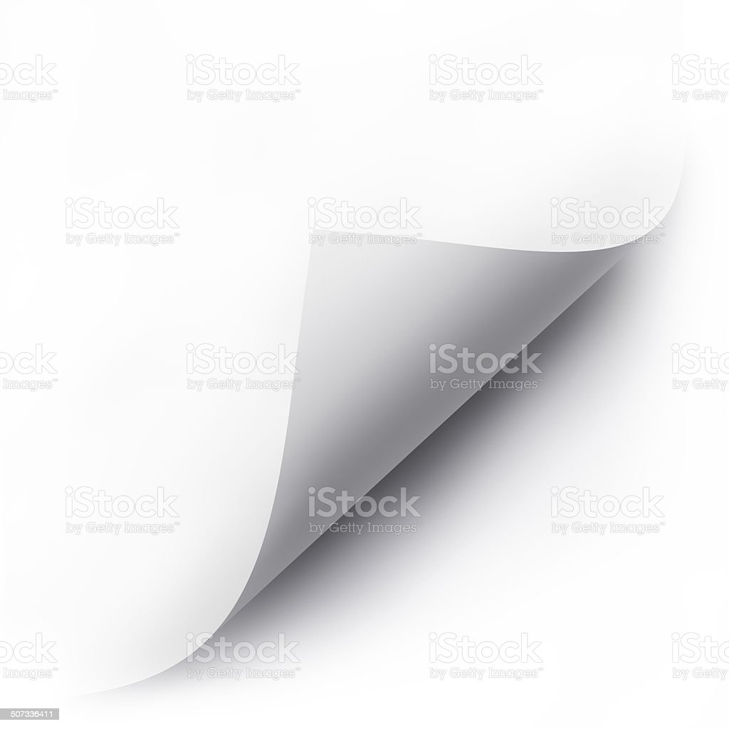 folded white paper sheet stock photo