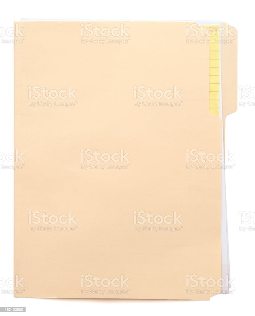 Folder & Paper (w/path) stock photo