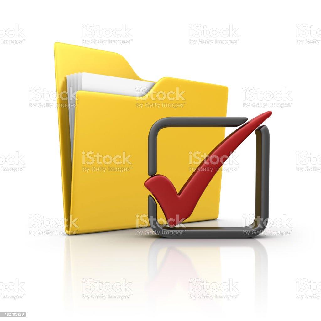 folder and check mark royalty-free stock photo