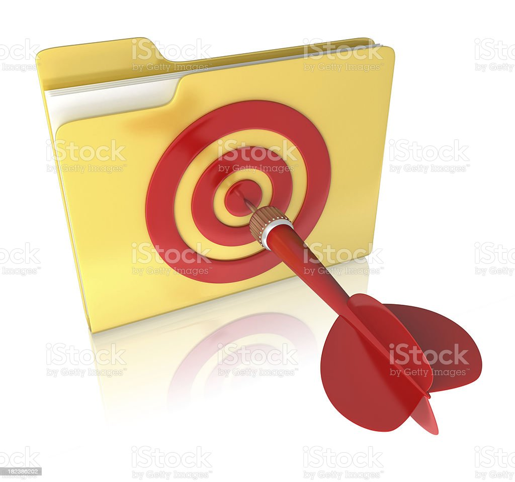 Folder and dart concepts royalty-free stock photo