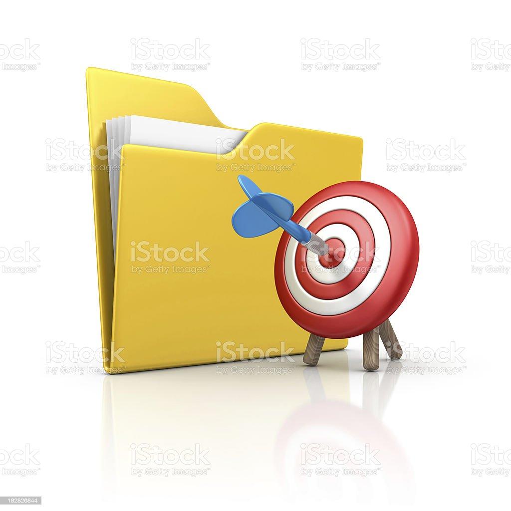 folder and dart royalty-free stock photo