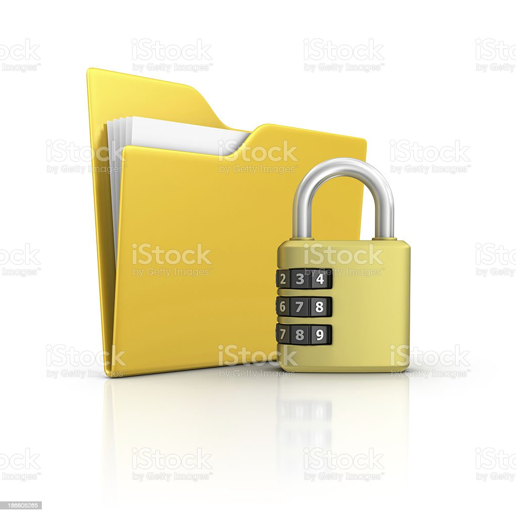 folder and padlock royalty-free stock photo