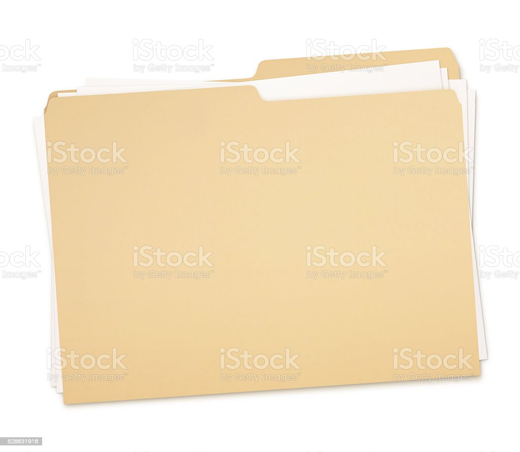 Folder and Paperwork (with path) stock photo
