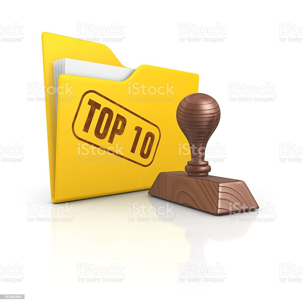 folder and stamp top 10 stock photo