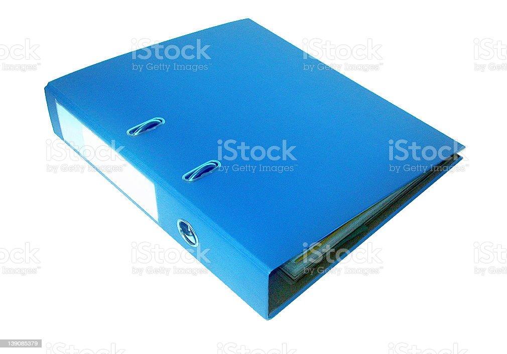 Folder blue royalty-free stock photo