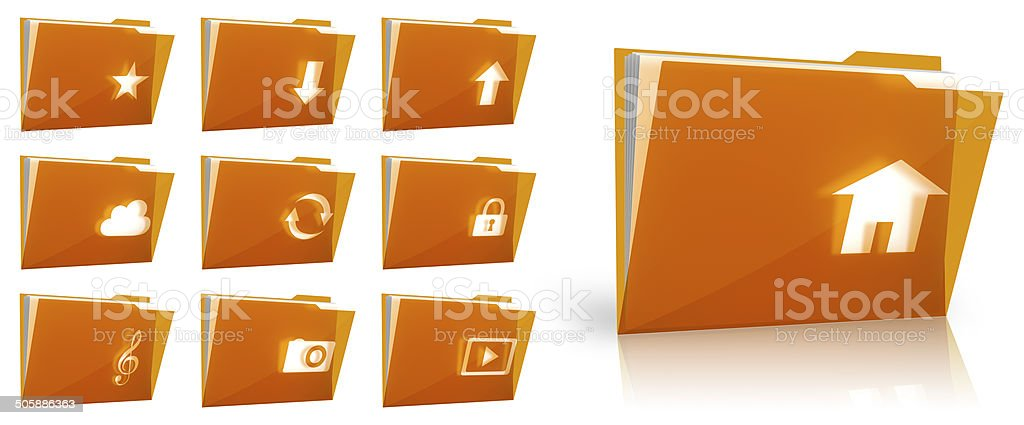 Folder collection stock photo