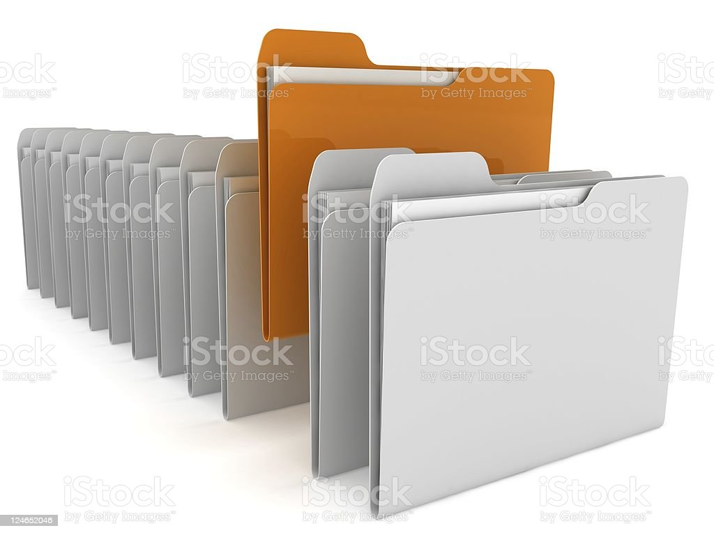 Folder Concept royalty-free stock photo