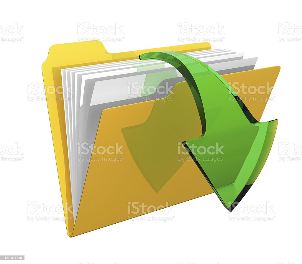 Folder Download royalty-free stock photo