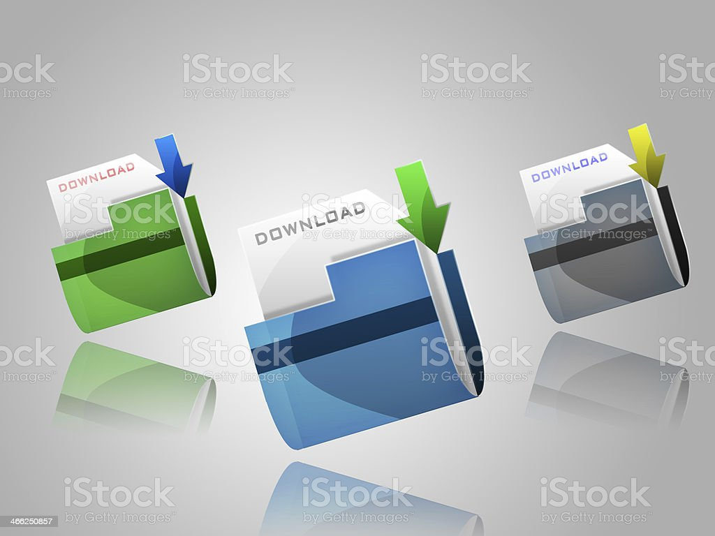 Folder for download royalty-free stock photo