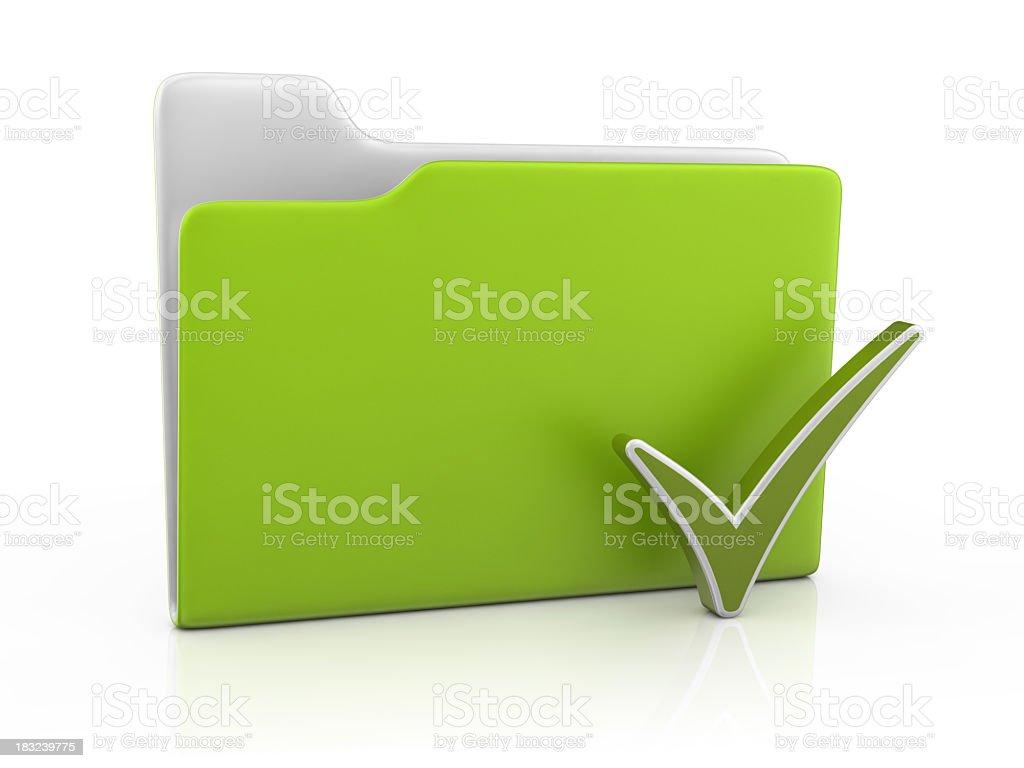 Folder Icon and Check Mark royalty-free stock photo