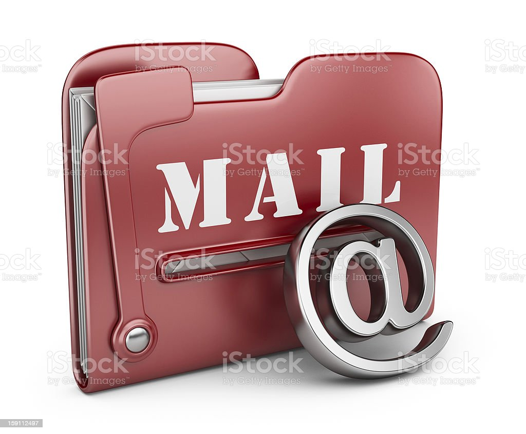 Folder is similar to mail box. 3D isolated royalty-free stock photo