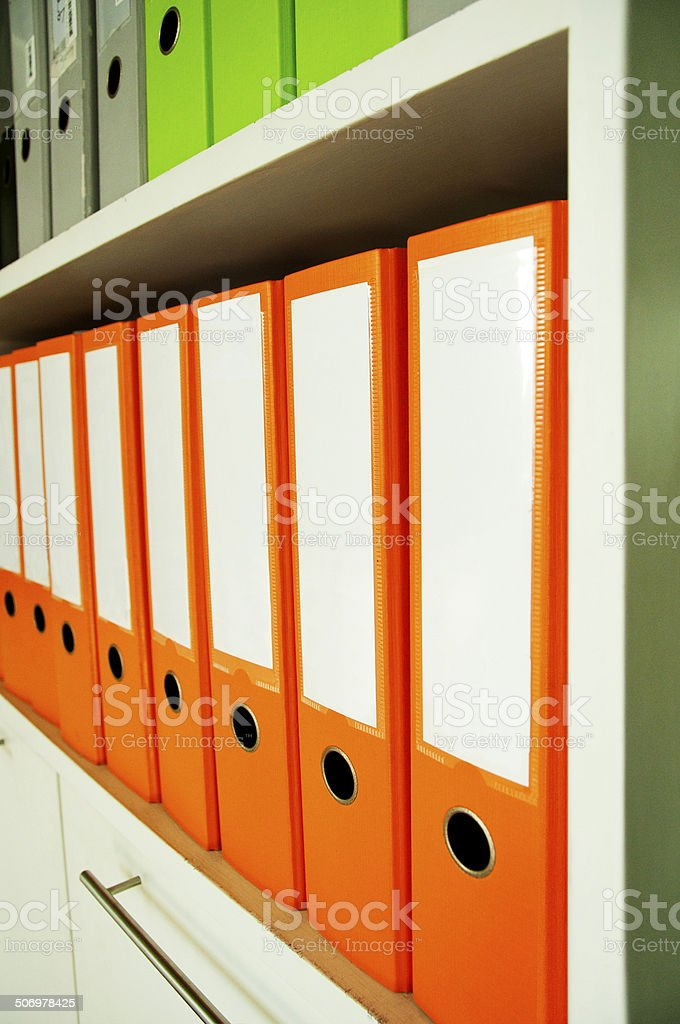 Carpeta de orange foto de stock libre de derechos