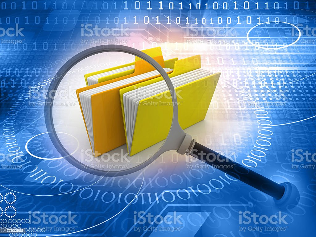 folder search concept stock photo