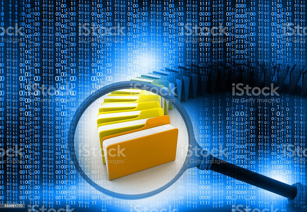 folder search concept stock photo