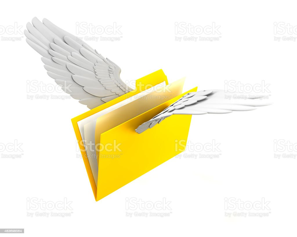 Folder to fly stock photo