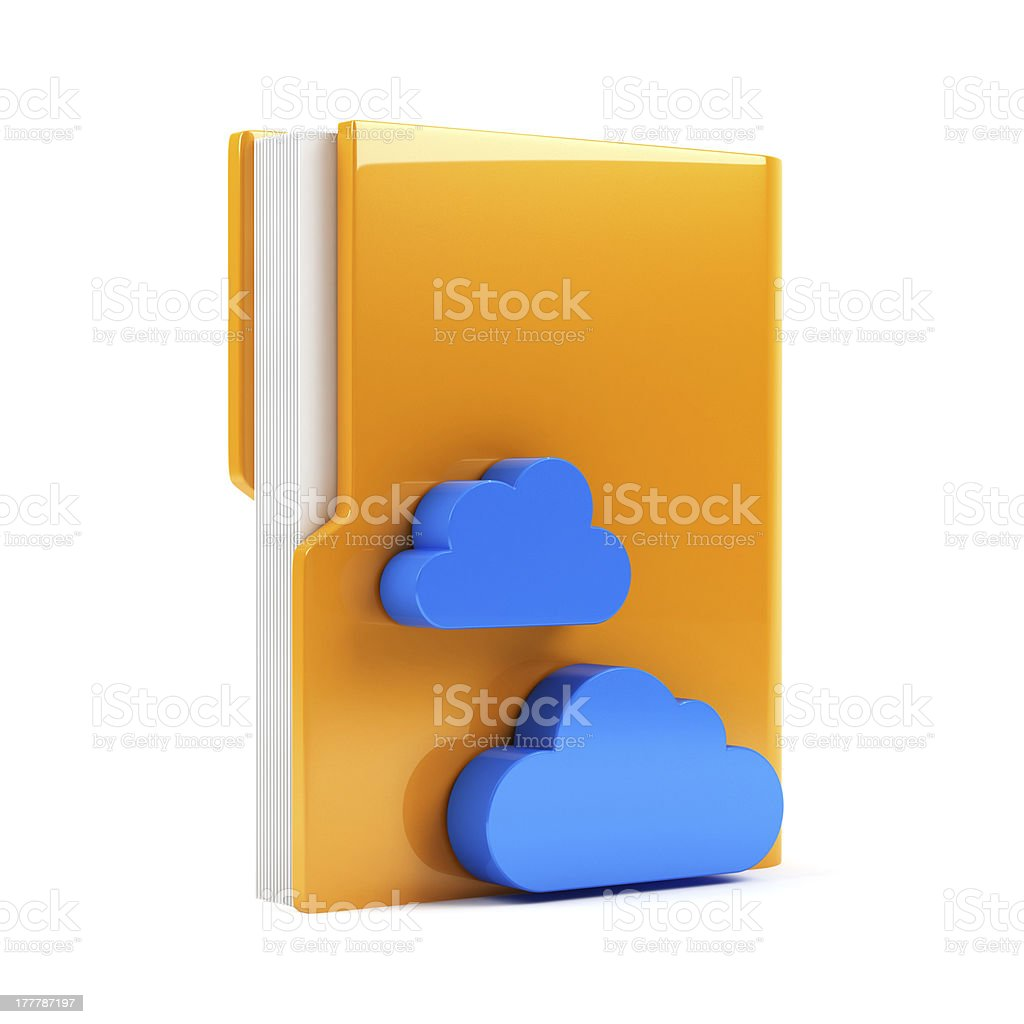 Folder with cloud icon royalty-free stock photo