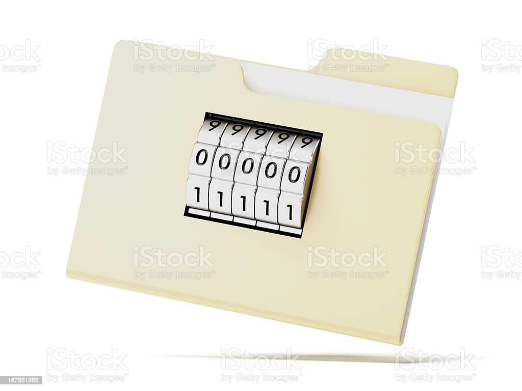 Folder with code royalty-free stock photo