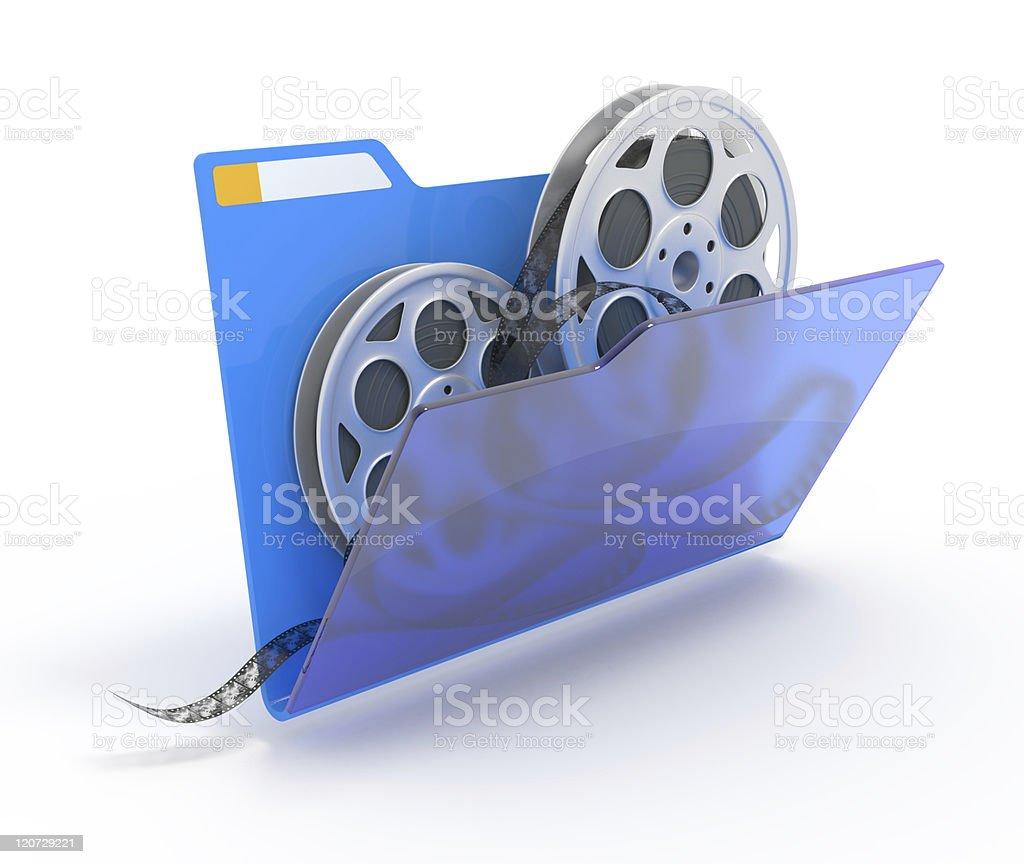 Folder with films. stock photo