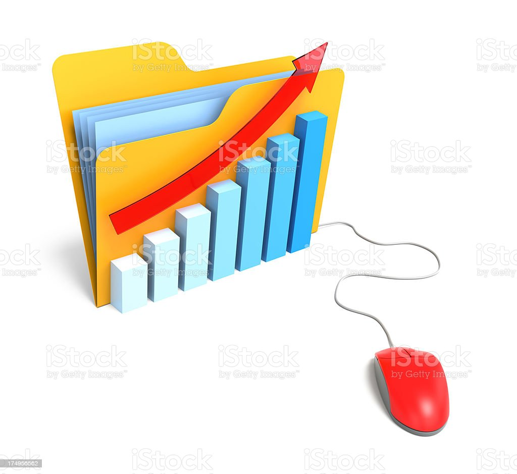 Folder with Graph royalty-free stock photo