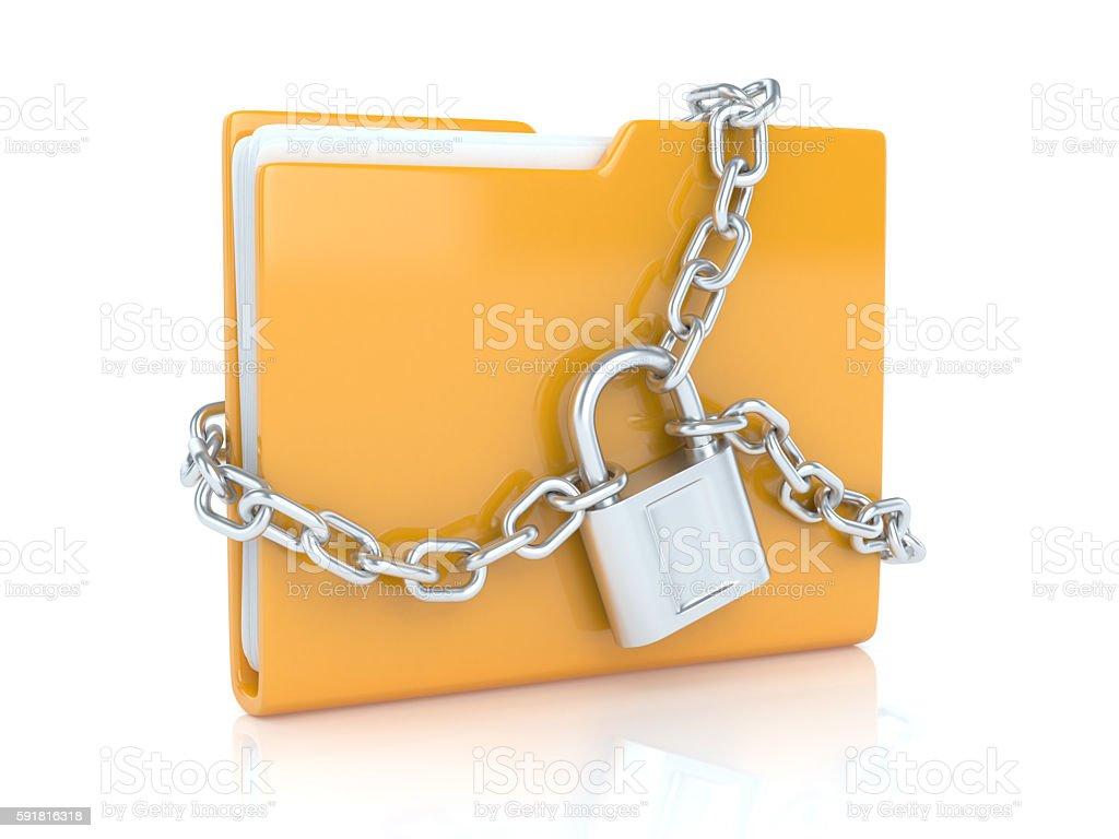 Folder with lock stock photo