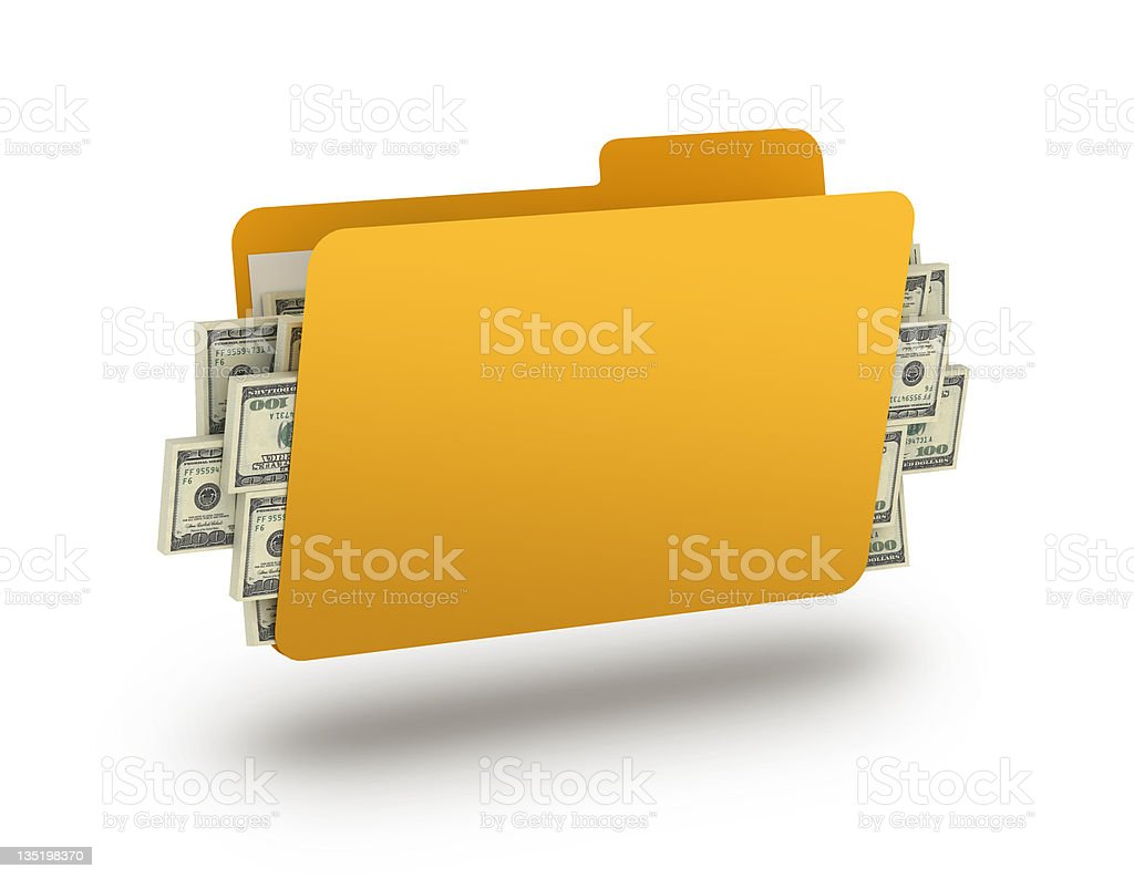 Folder with money royalty-free stock photo