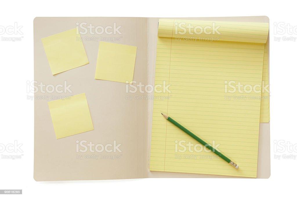 Folder with Notepad stock photo
