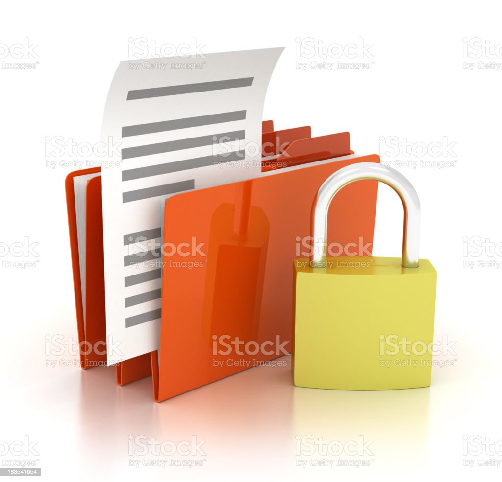 Folder with Padlock royalty-free stock photo