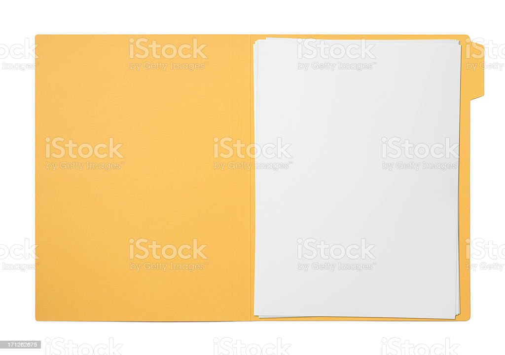 Folders and files stock photo